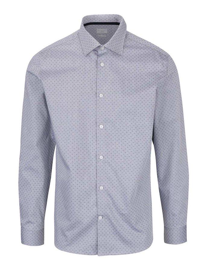 Šedá vzorovaná košile Selected Homme Two Easy