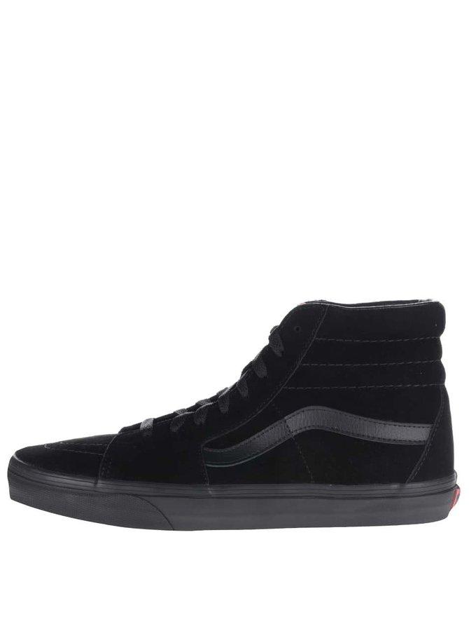Černé pánské semišové kotníkové tenisky Vans SK8-Hi