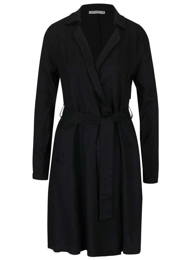 Černé zavinovací šaty Lavand