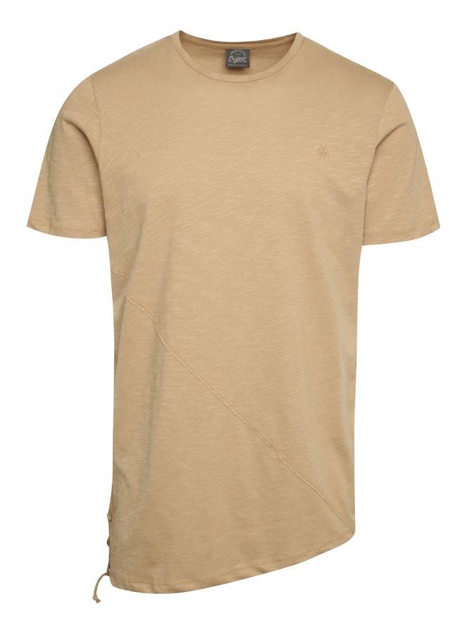 Béžové triko s krátkým rukávem Jack & Jones Try