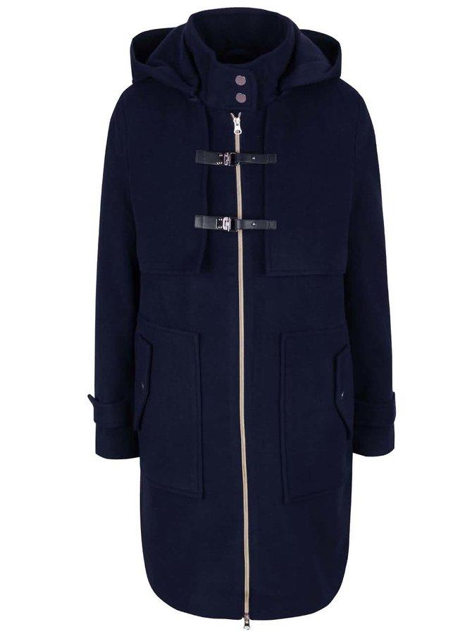 Tmavomodrý kabát s prackami Lavand