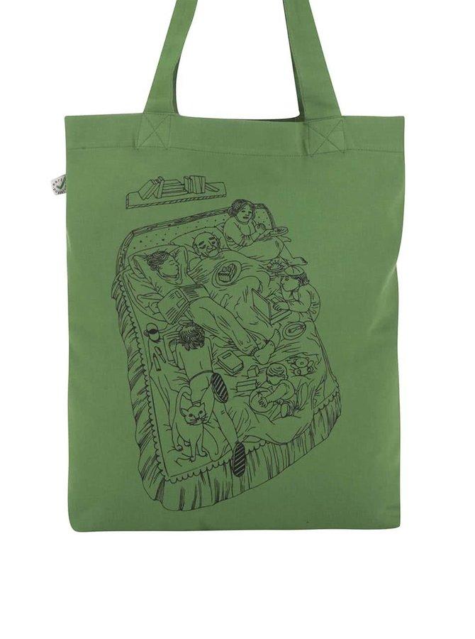 """Dobrá"" zelená platenná taška Cesta domov"