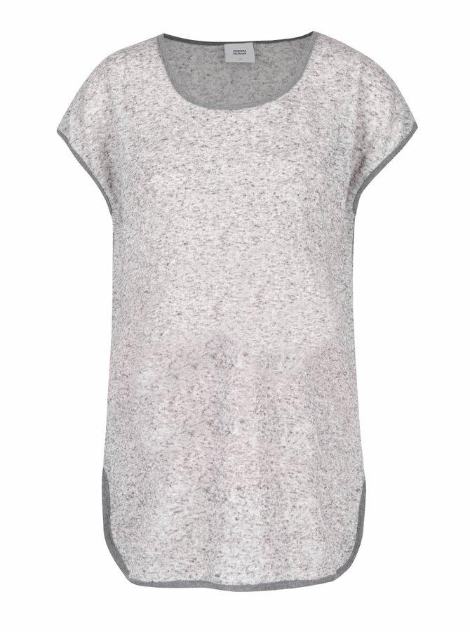 Sivé melírované tehotenské tričko Mama.licious Gianna