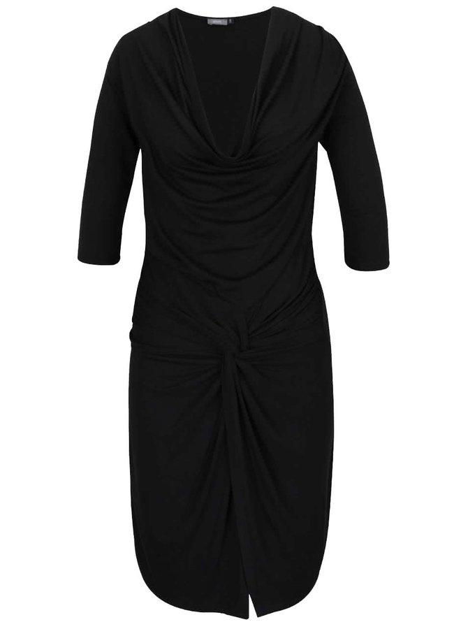 Černé šaty s prověšeným výstřihem ZOOT