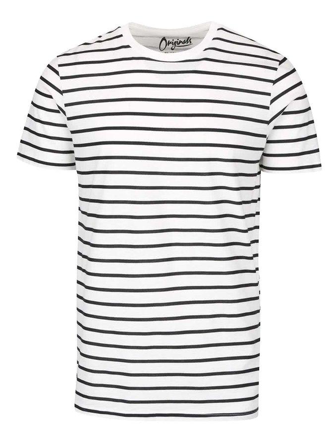 Černo-krémové pruhované triko Jack & Jones States