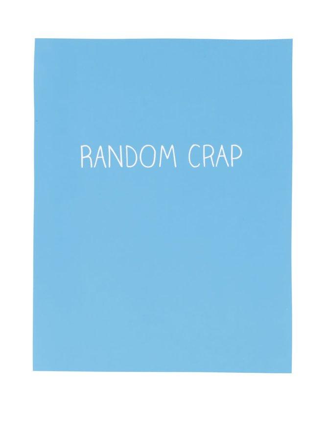Modrý linkovaný sešit Happy Jackson Random Crap