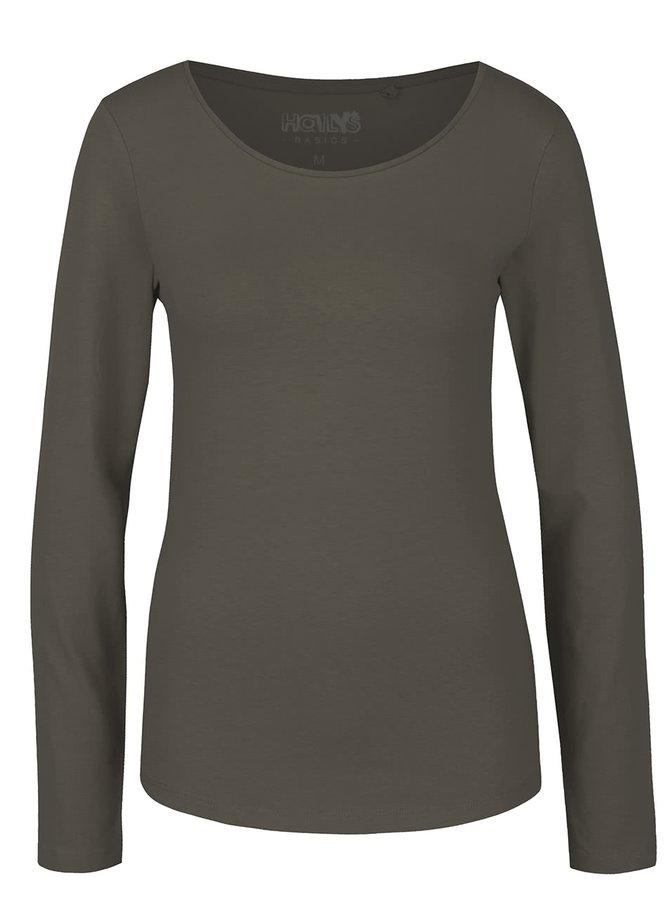 Khaki tričko s dlouhým rukávem Haily´s Tina