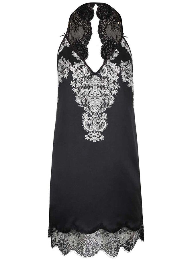 Černo-bílá košilka s krajkou Lipsy