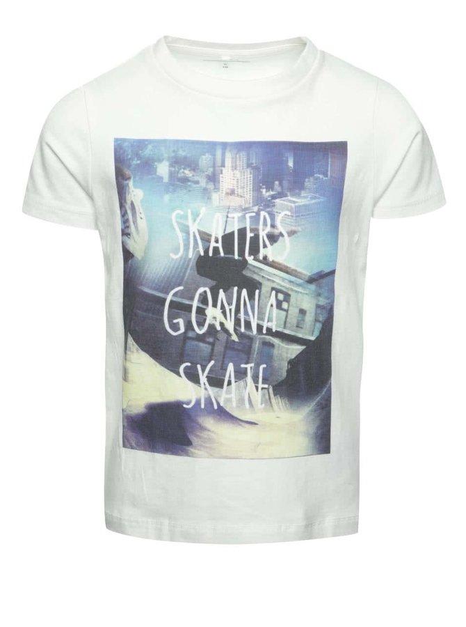 Tricou crem name it Dim cu print pentru băieți