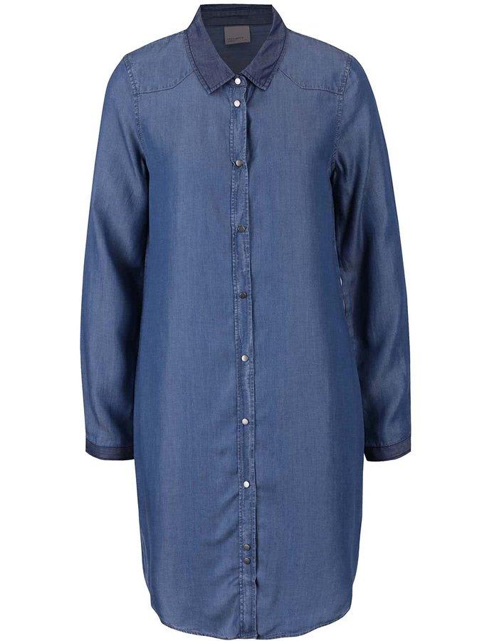 Rochie cămașă albastră VERO MODA Daisy