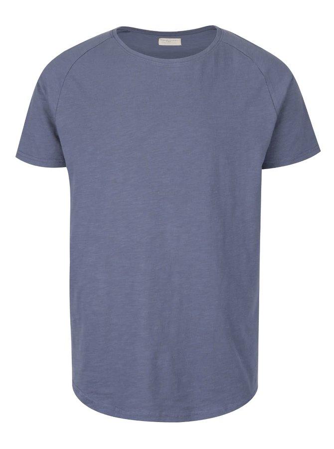 Tricou albastru Selected Homme Tease din bumbac