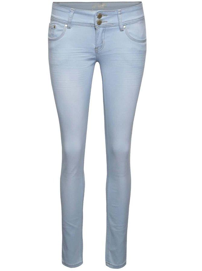 Světle modré džíny s nízkým pasem Haily´s Kitty