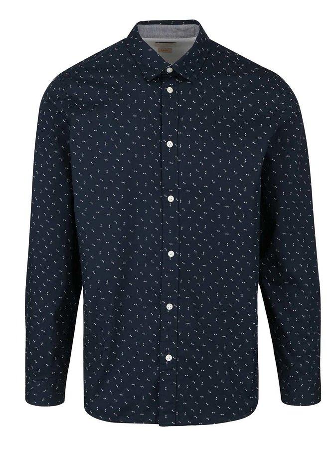 Tmavě modrá vzorovaná slim fit košile Selected Homme Marcel