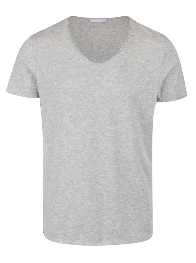 Šedé triko s krátkým rukávem Selected Homme Merce