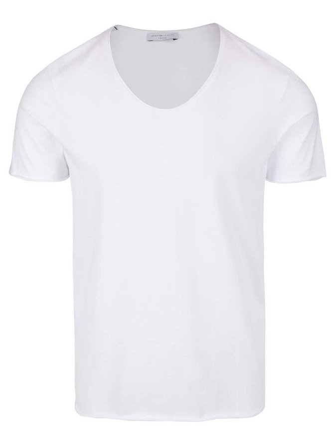 Tricou alb Selected Homme Merce din bumbac