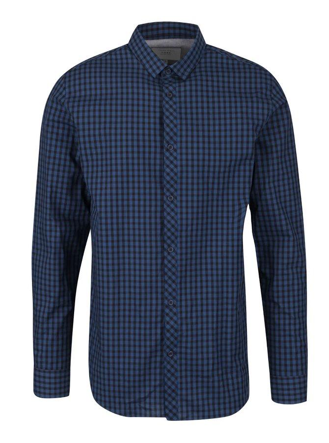Tmavě modrá kostkovaná košile Jack & Jones Gingham