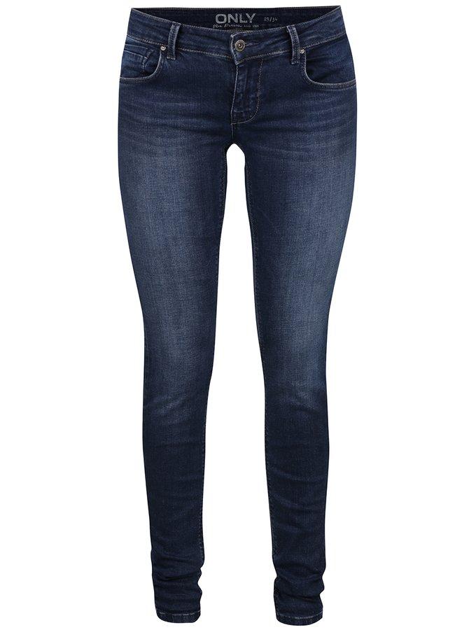 Jeanși skinny albastru închis ONLY Dylan cu aspect ușor prespălat