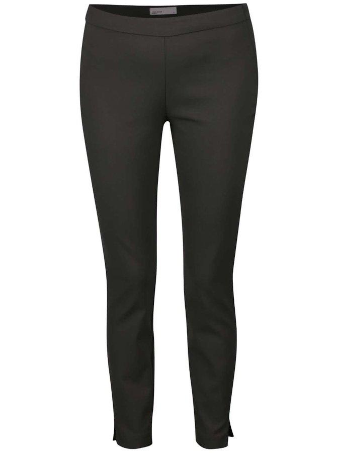 Šedozelené zkrácené kalhoty VERO MODA Ida