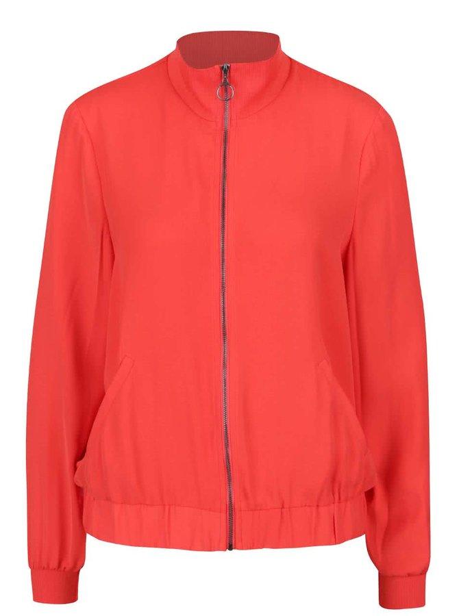 Jachetă cu guler înalt roșie VERO MODA Sebastin