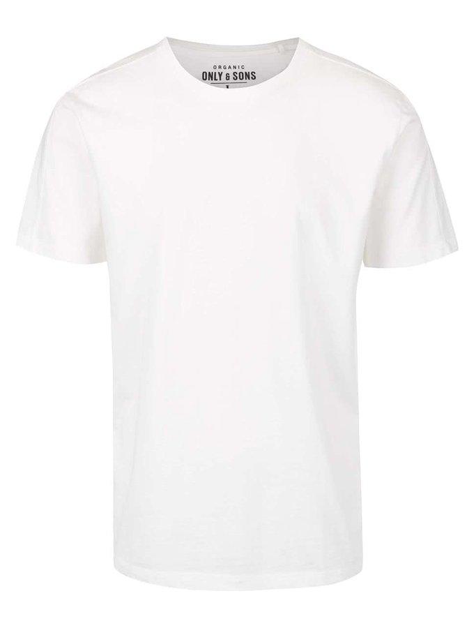 Krémové basic triko ONLY & SONS Kanta