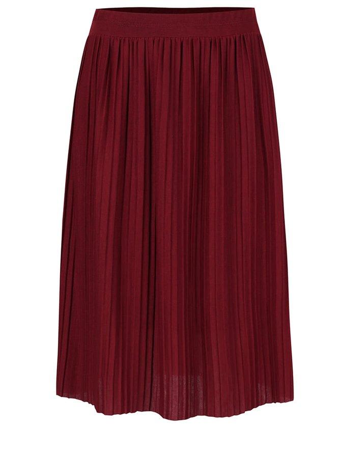 Vínová plisovaná sukňa Alchymi  Anya