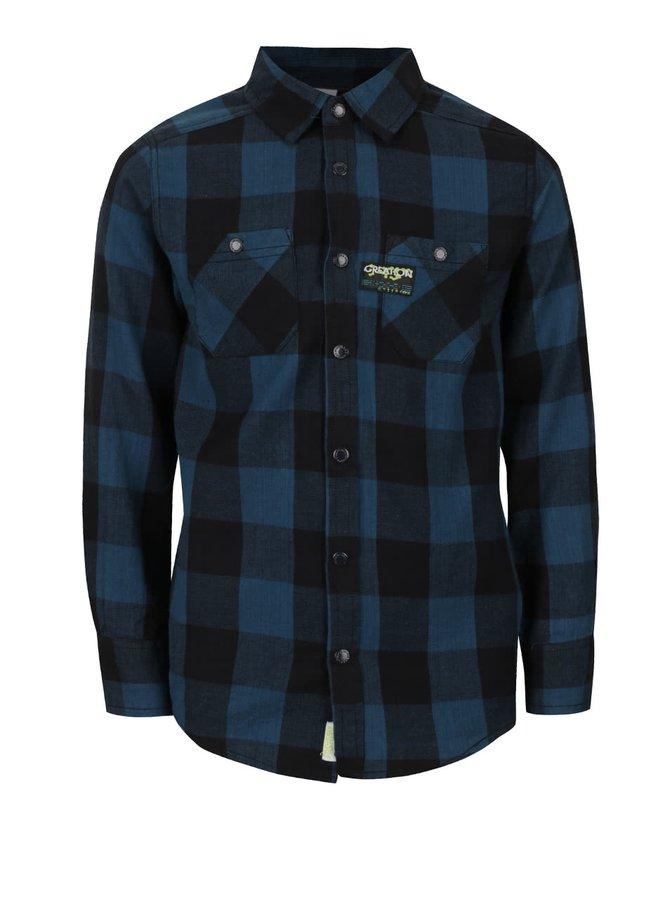 Modro-černá kostkovaná klučičí košile s kapsami 5.10.15.