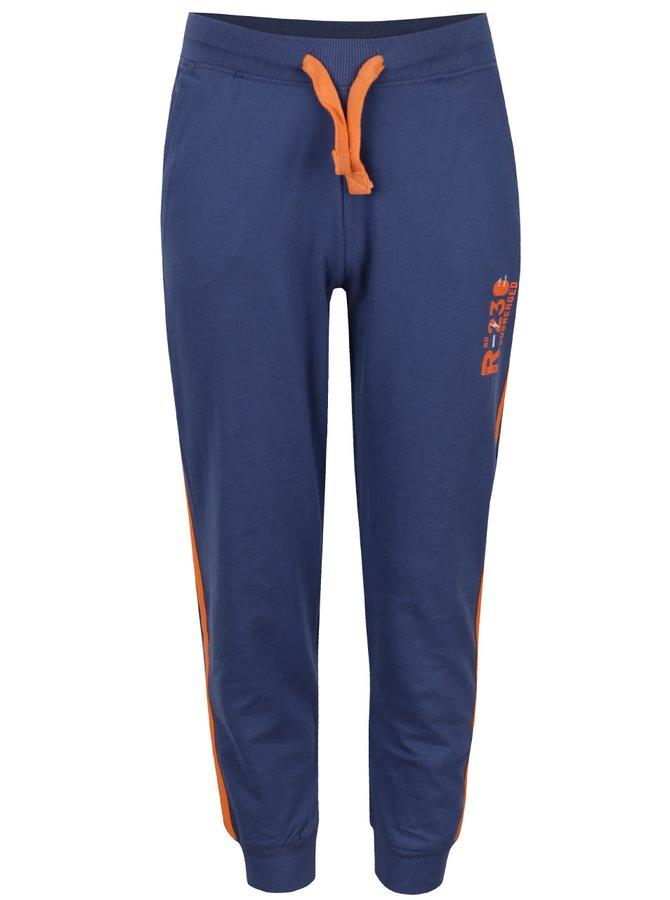 Pantaloni sport albaștri 5.10.15. cu detalii portocalii pentru băieți