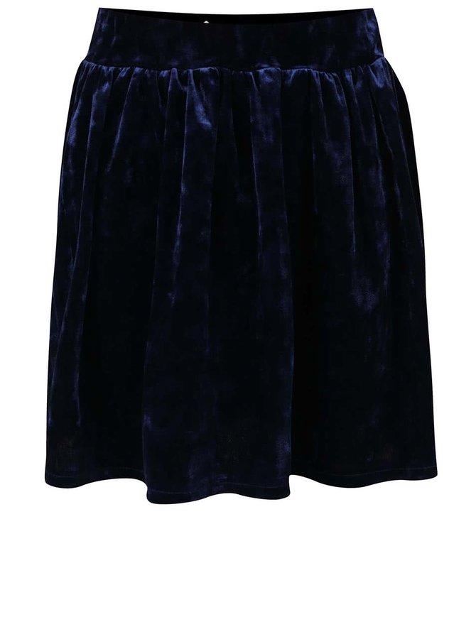 Tmavě modrá sametová holčičí sukně 5.10.15.
