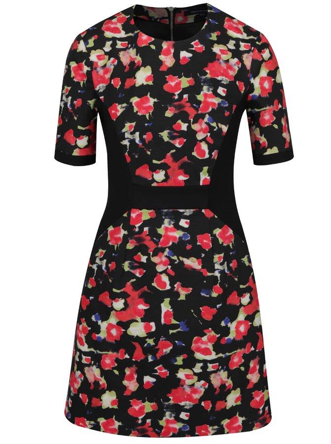 Černé vzorované šaty French Connection Bella