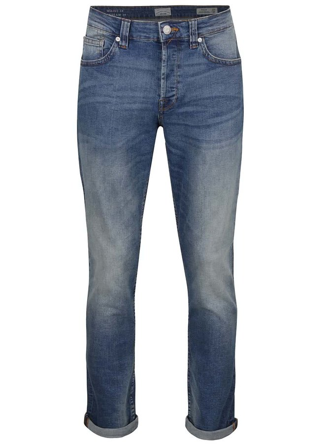 Světle modré regular džíny s vyšisovaným efektem ONLY & SONS Weft