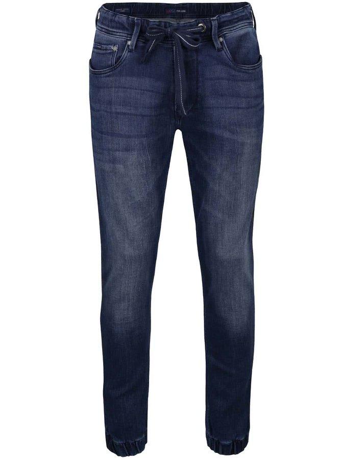 Tmavě modré pánské džíny se stahovací šňůrkou v pase Pepe Jeans Sprint