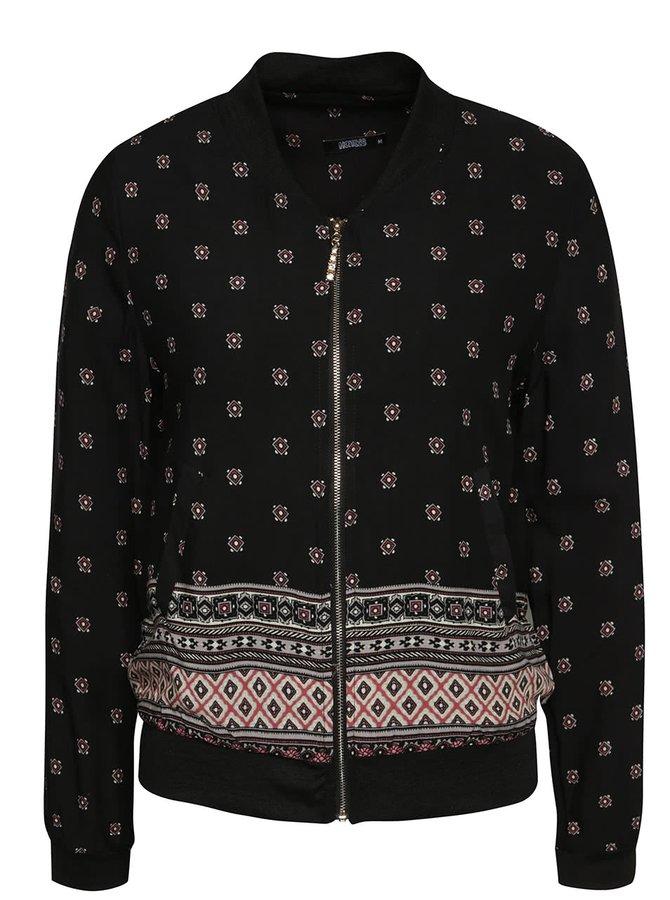 Jachetă bomber neagră Haily´s Felicia cu model