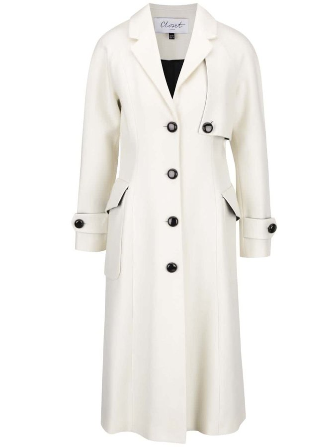 Palton alb Closet