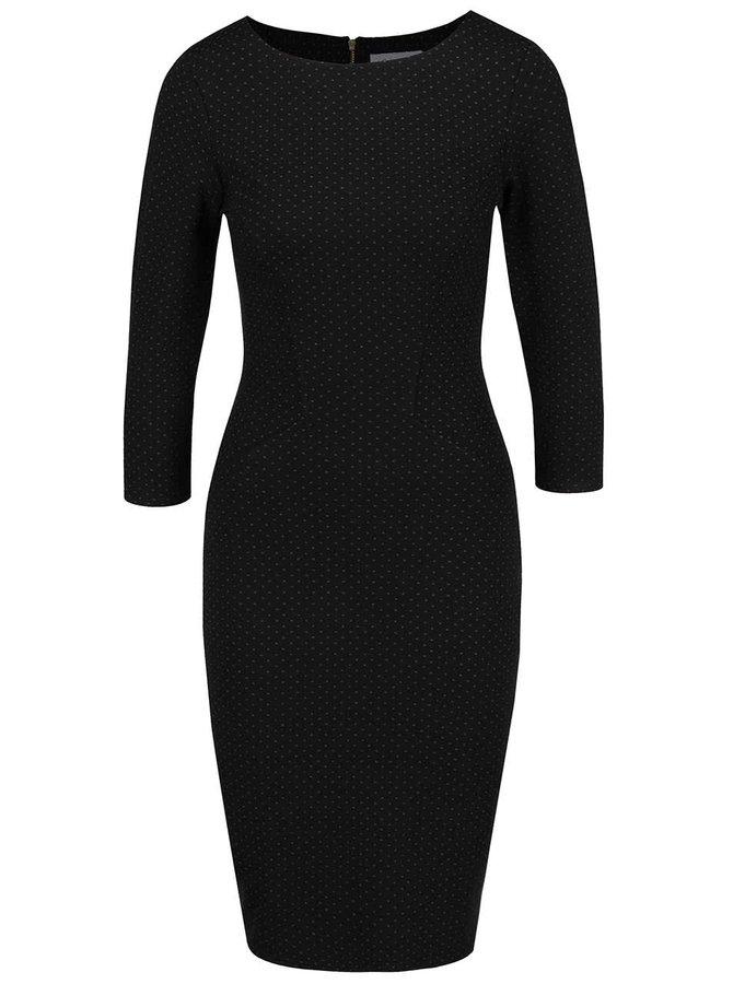 Černé pouzdrové šaty s jemným vzorem Closet