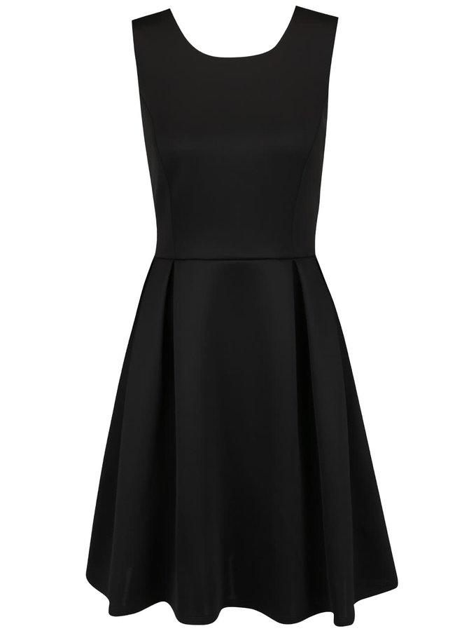 Černé lesklé šaty Dorothy Perkins