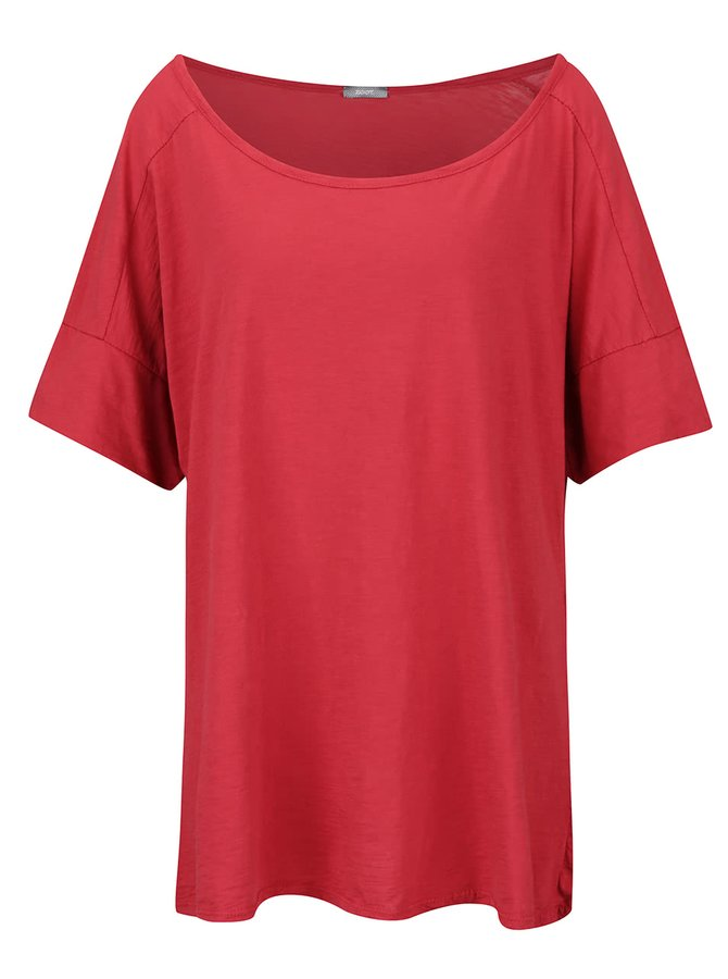 Červené dámské oversize tričko s krátkým rukávem ZOOT