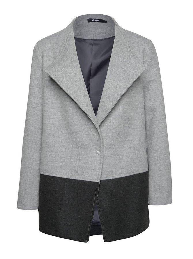 Šedý krátký kabát Alchymi Elise