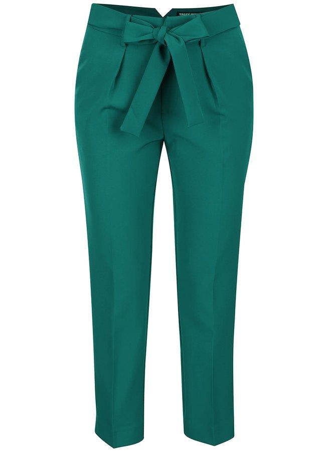 Pantaloni verzi TALLY WEiJL cu fundă în talie