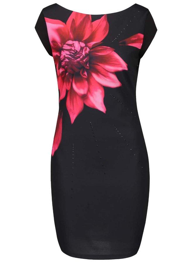 Rochie neagră Desigual Isla cu model