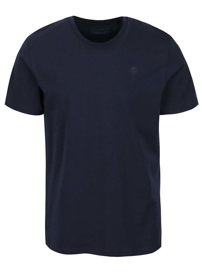 Tmavě modré pánské triko s potiskem Perry Ellis Tour