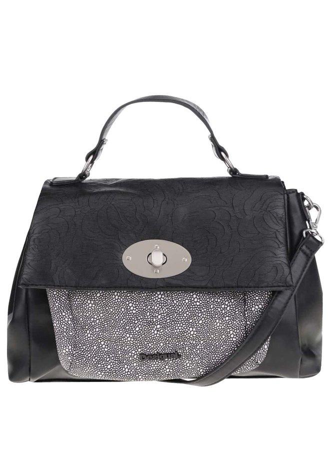 Černá koženková kabelka s klopou Desigual Praga Fridyay