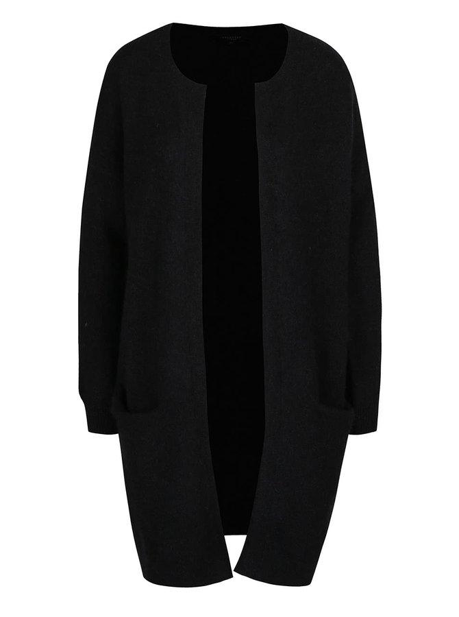 Černý vlněný cardigan s kapsami Selected Femme Livana