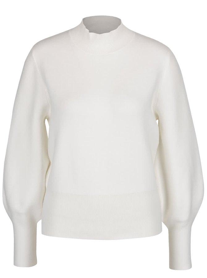 Krémový svetr s nízkým rolákem Selected Femme Tanja