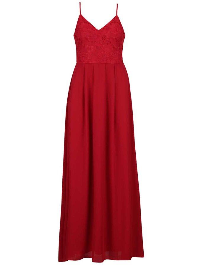 Rochie roșie lungă AX Paris cu decolteu în V