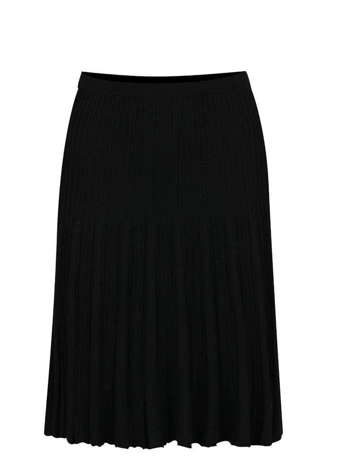 Černá žebrovaná sukně VILA Now