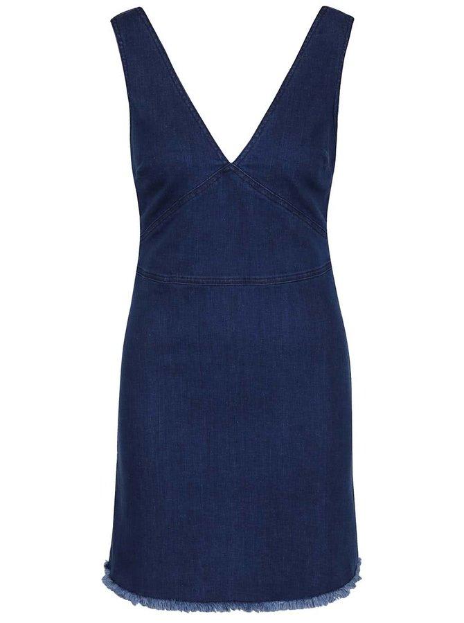 Sarafan albastru Miss Selfridge din denim
