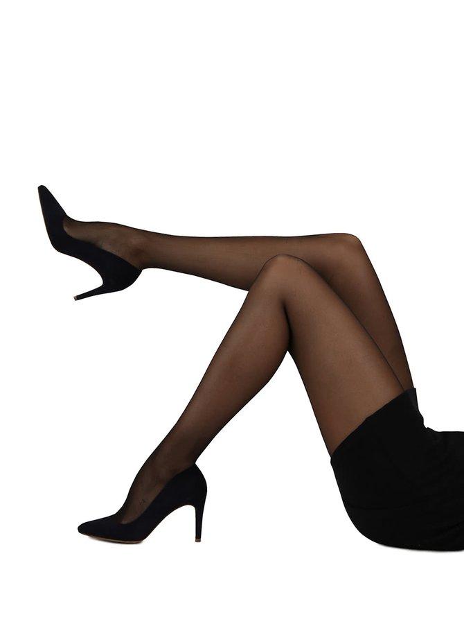 Sada dvou lesklých černých punčoch Gipsy Gipsy Soft gloss 15 DEN