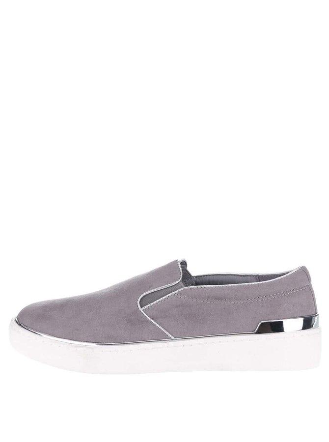 Pantofi slip on mov prăfuit cu detalii metalice Dorothy Perkins