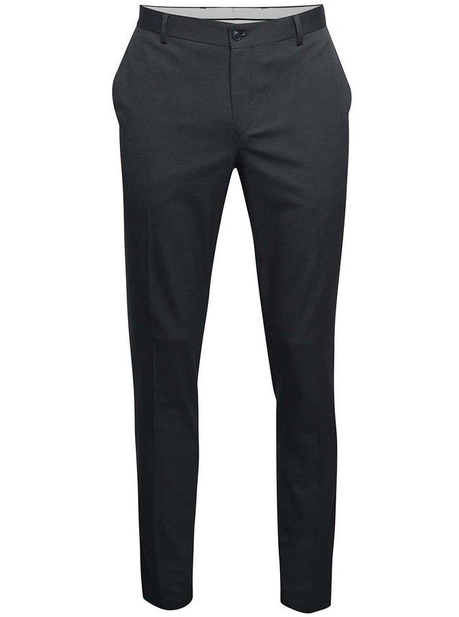 Tmavě modré formální kalhoty Selected Homme Skinny Mathsaul