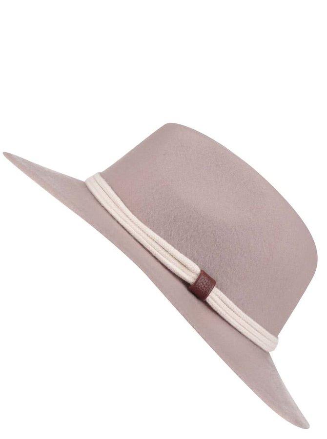 Starorůžový klobouk s krémovým páskem YAYA